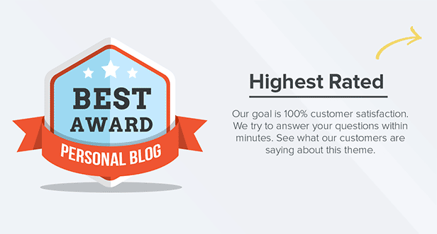 desc highest rated blue - Pluto Clean Personal WordPress Masonry Blog Theme