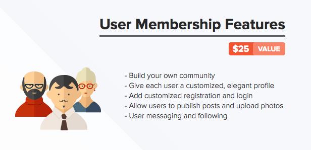 desc user membership - Pluto Clean Personal WordPress Masonry Blog Theme