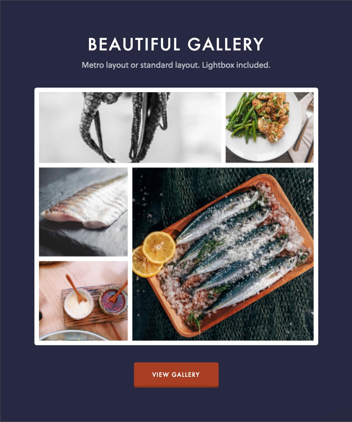 dine gallery - Dine - Elegant Restaurant WordPress Theme