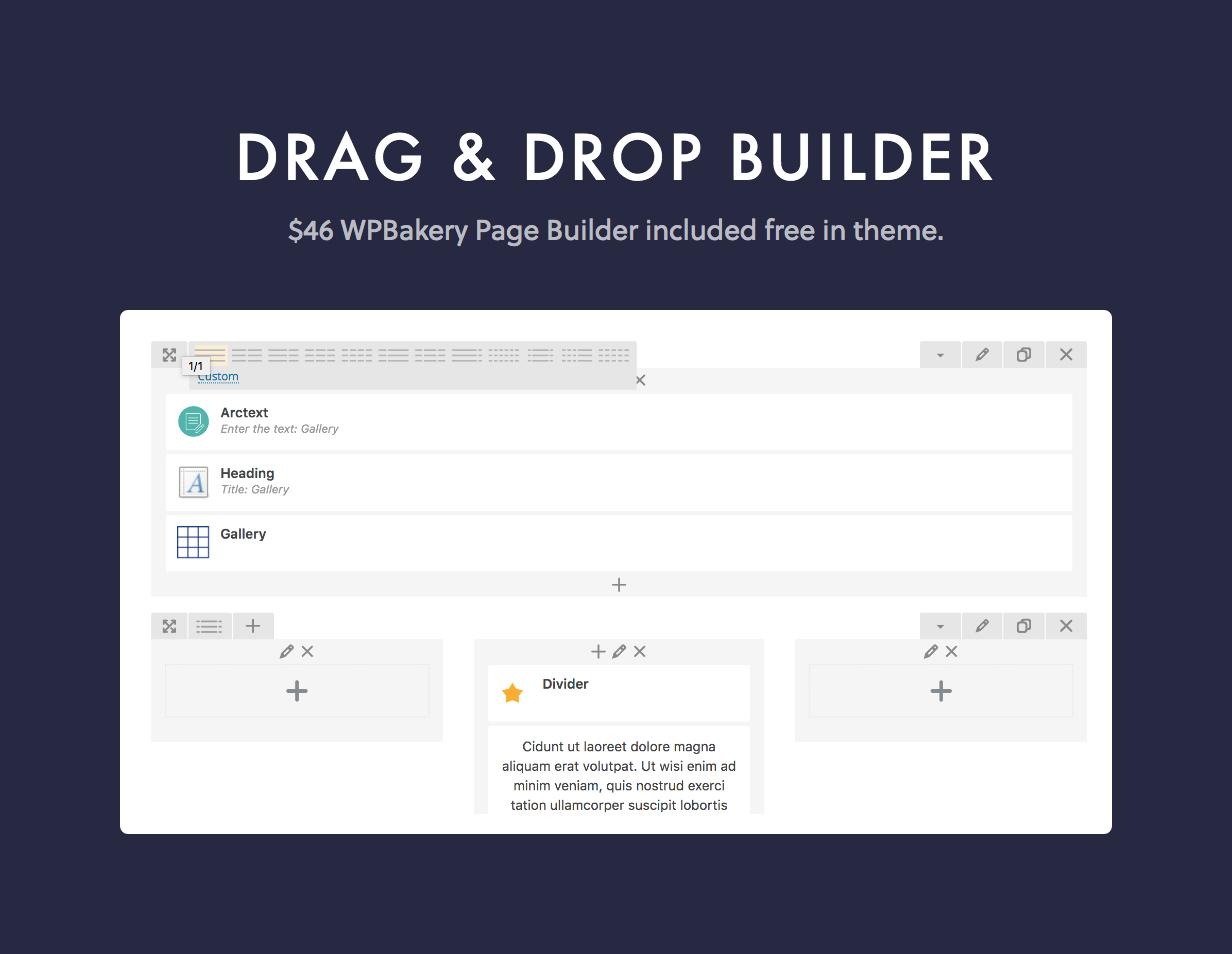 dine page builder - Dine - Elegant Restaurant WordPress Theme
