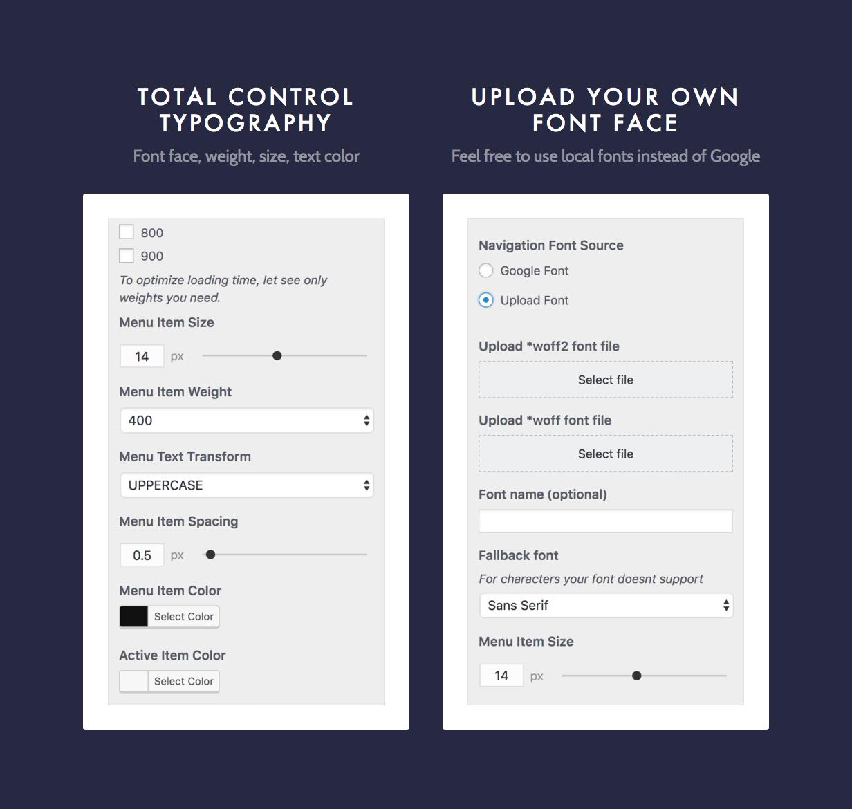 dine typography - Dine - Elegant Restaurant WordPress Theme
