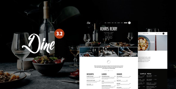 dine preview.  large preview.  large preview - Dine - Elegant Restaurant WordPress Theme