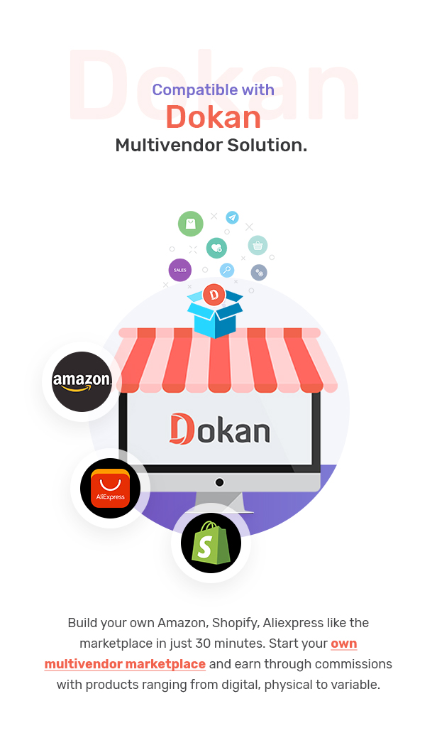 dokan 2 - Marketo - eCommerce & Multivendor Marketplace Woocommerce WordPress Theme
