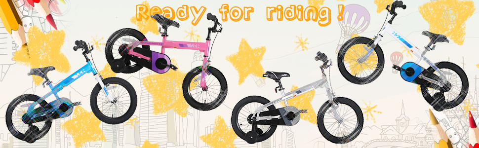 eab73936 4f81 4957 b30e 2c223f480040.  CR0,0,970,300 PT0 SX970 V1    - JOYSTAR Whizz Kids Bike with Training Wheels for Ages 2-9 Years Old Boys and Girls, 12 14 16 18 Toddler Bike with Handbrake for Children