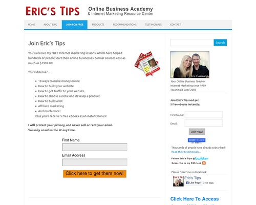 ericstips x400 thumb - Eric's Tips - Internet Marketing Newsletter - Over 80,000 Subscribers!