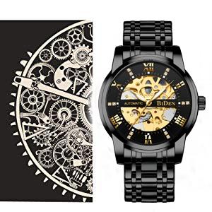 f4610c70 2d53 4d84 b9ff dfc39c606607.  CR0,0,300,300 PT0 SX300 V1    - Mens Watches Mechanical Automatic Self-Winding Stainless Steel Skeleton Luxury Waterproof Diamond Dial Wrist Watches for Men