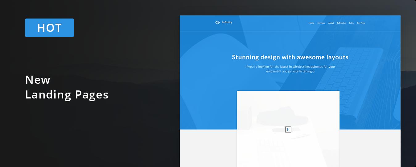 landing page baner - Infinity - Responsive Web App Kit