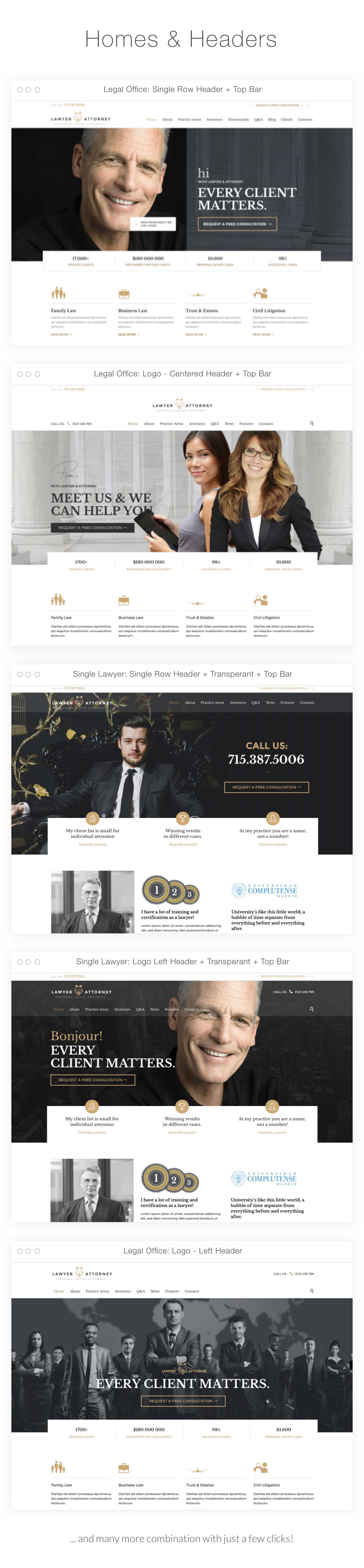 lawyer Introduction homes - Lawyer & Attorney - Law Firm WordPress