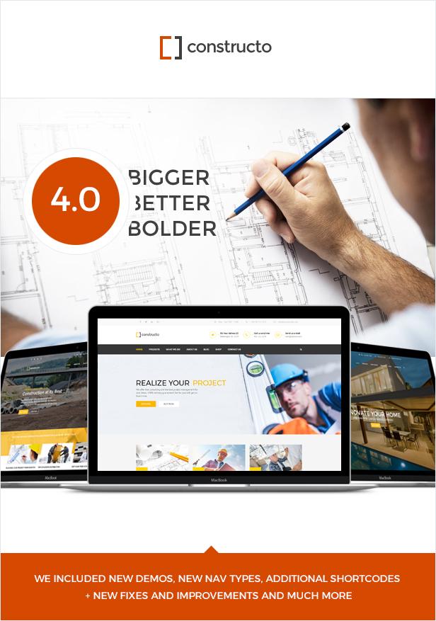 main presentation - Constructo - Construction WordPress Theme