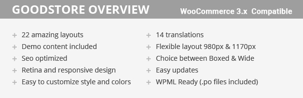 overview - GoodStore - WooCommerce Theme