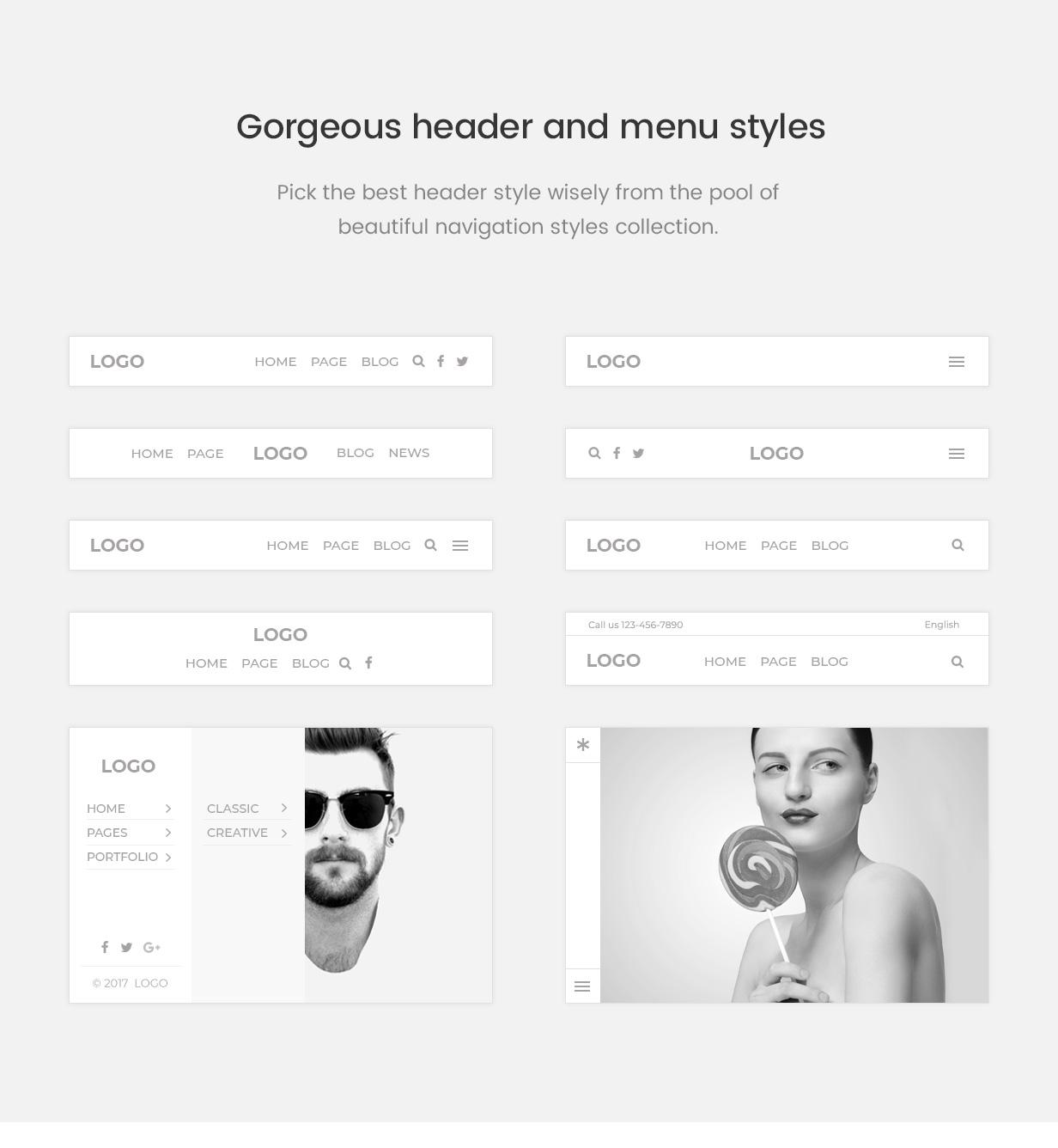 pofo wordpress header menu styles - Pofo - Creative Portfolio and Blog WordPress Theme
