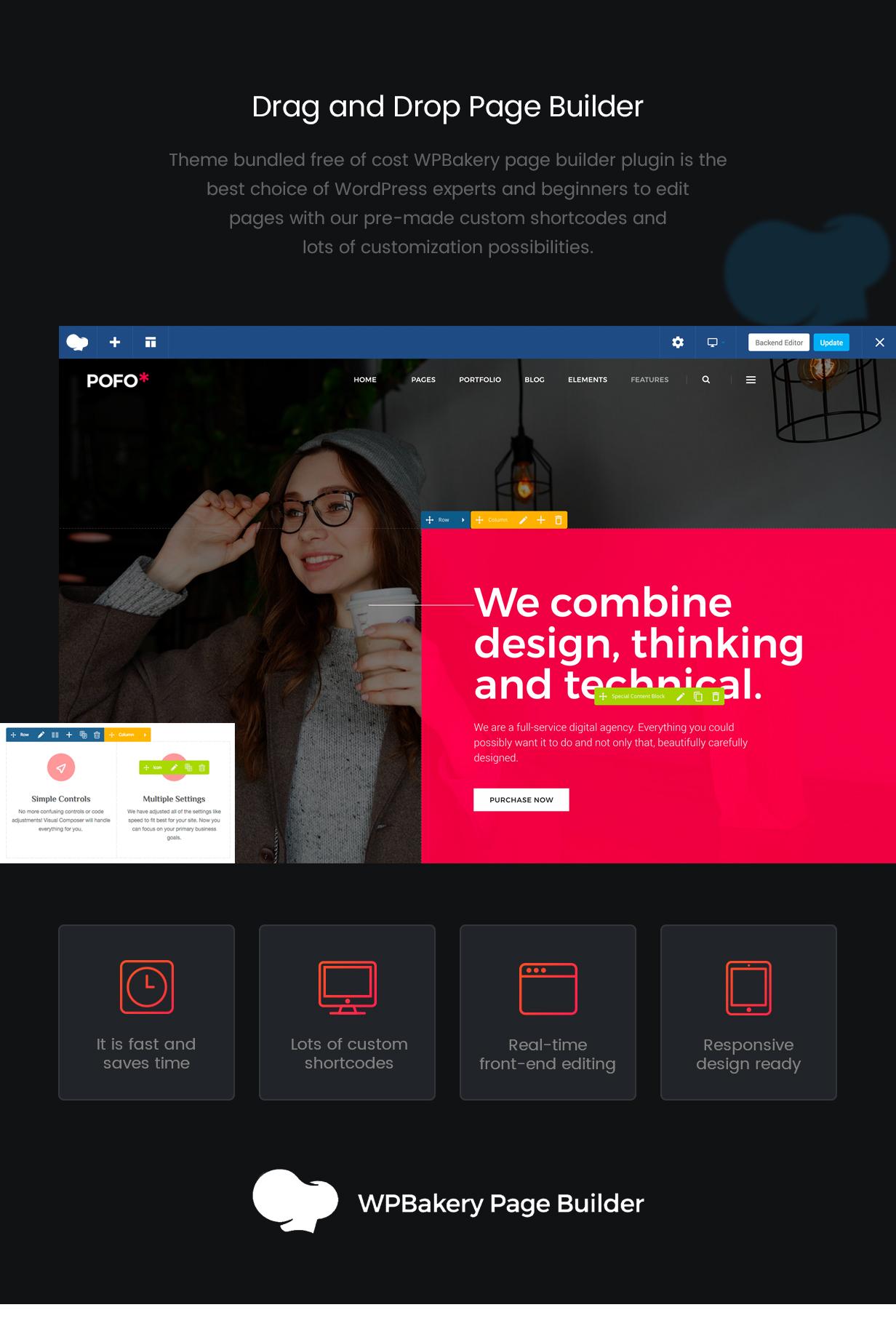 pofo wordpress page builder 08 feb 2019 - Pofo - Creative Portfolio and Blog WordPress Theme