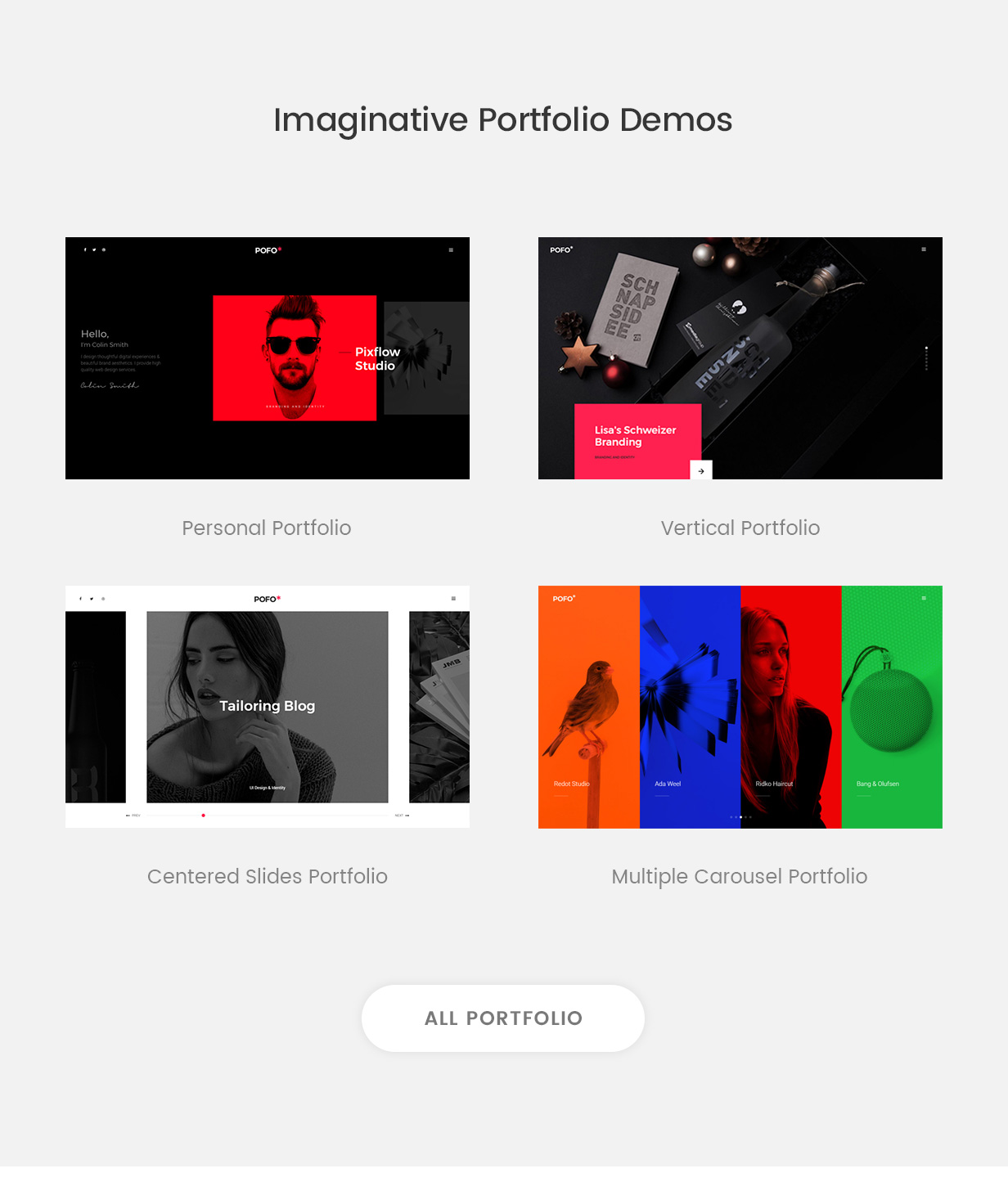 pofo wordpress portfolio demos - Pofo - Creative Portfolio and Blog WordPress Theme