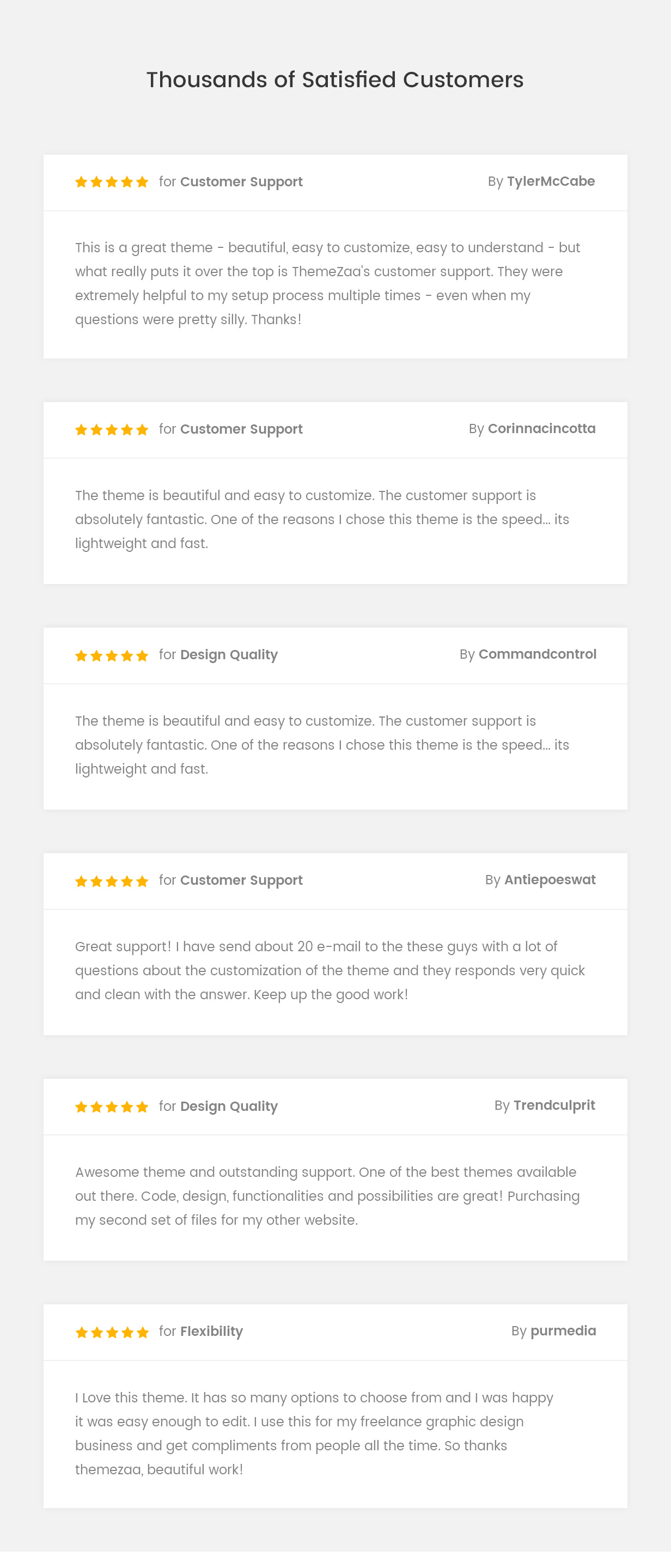 pofo wordpress satisfied customers - Pofo - Creative Portfolio and Blog WordPress Theme