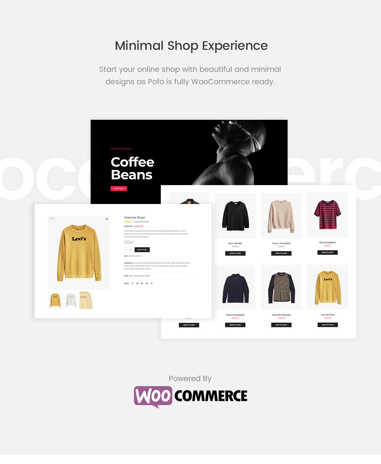 pofo wordpress shop new - Pofo - Creative Portfolio and Blog WordPress Theme
