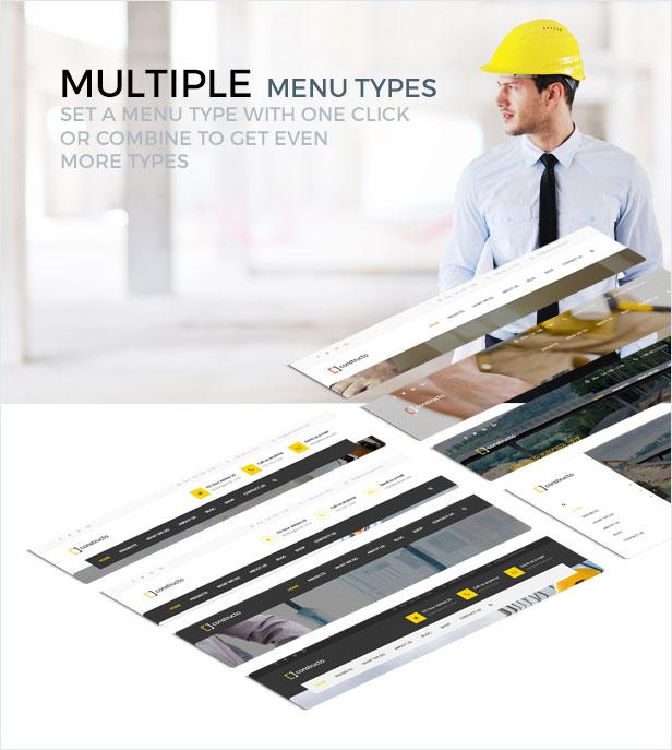 presentation menu - Constructo - Construction WordPress Theme