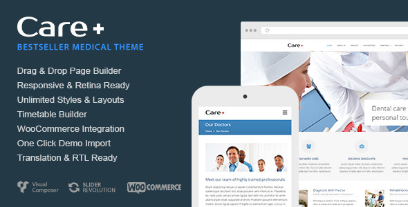 preview care.  large preview - Care - Medical and Health Blogging WordPress Theme