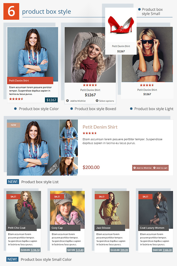 product box style - GoodStore - WooCommerce Theme