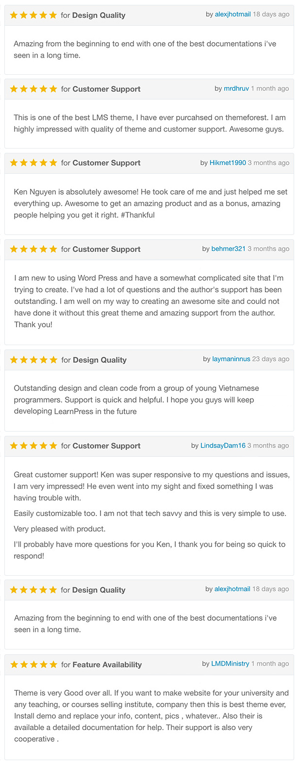 reviews - Course & LMS WordPress Theme | CBKit