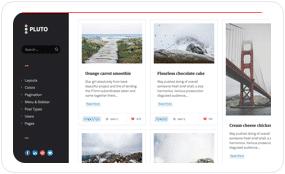 tf desc scheme black white - Pluto Clean Personal WordPress Masonry Blog Theme