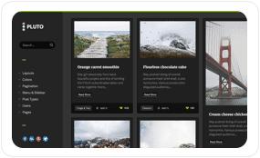 tf desc scheme dark night - Pluto Clean Personal WordPress Masonry Blog Theme