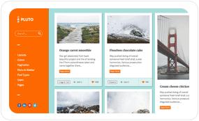tf desc scheme retro orange - Pluto Clean Personal WordPress Masonry Blog Theme