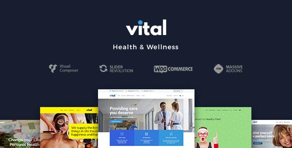 vital promo - Care - Medical and Health Blogging WordPress Theme