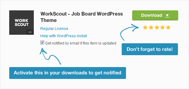 workscout notice - WorkScout - Job Board WordPress Theme