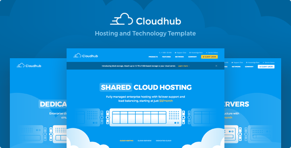 0.  large preview - Cloudhub - Hosting and Technology HTML Template