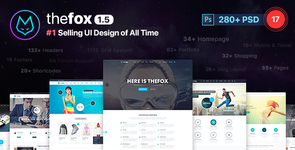 00 TheFox Preview Ver 1 5.  large preview - TheFox | Multi-Purpose PSD Template