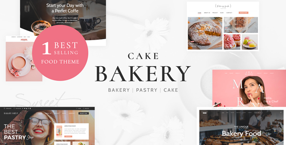 01 theme preview.  large preview - Cake Bakery - Pastry WP