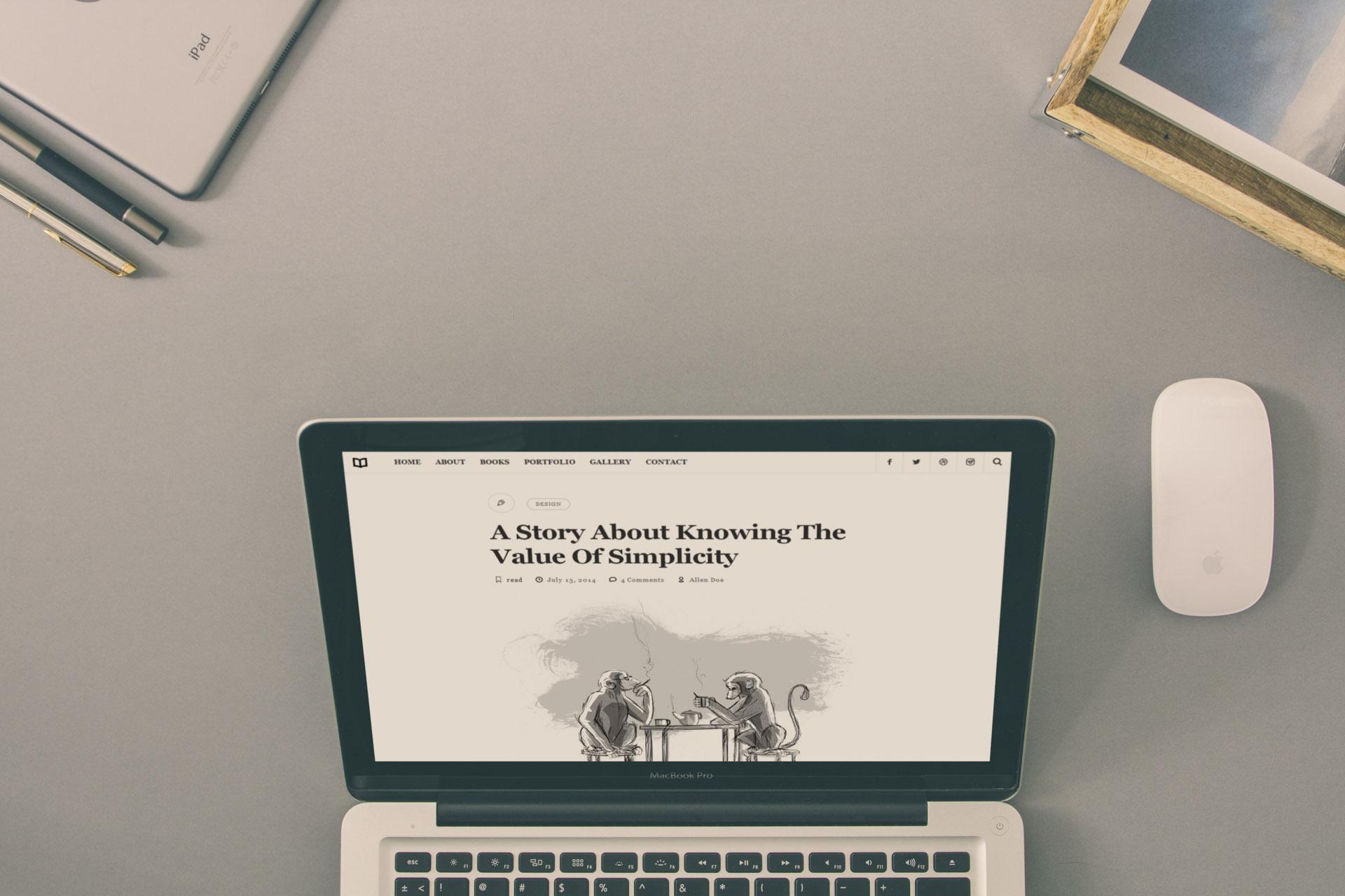 01 - Readme - A Readable WordPress Theme