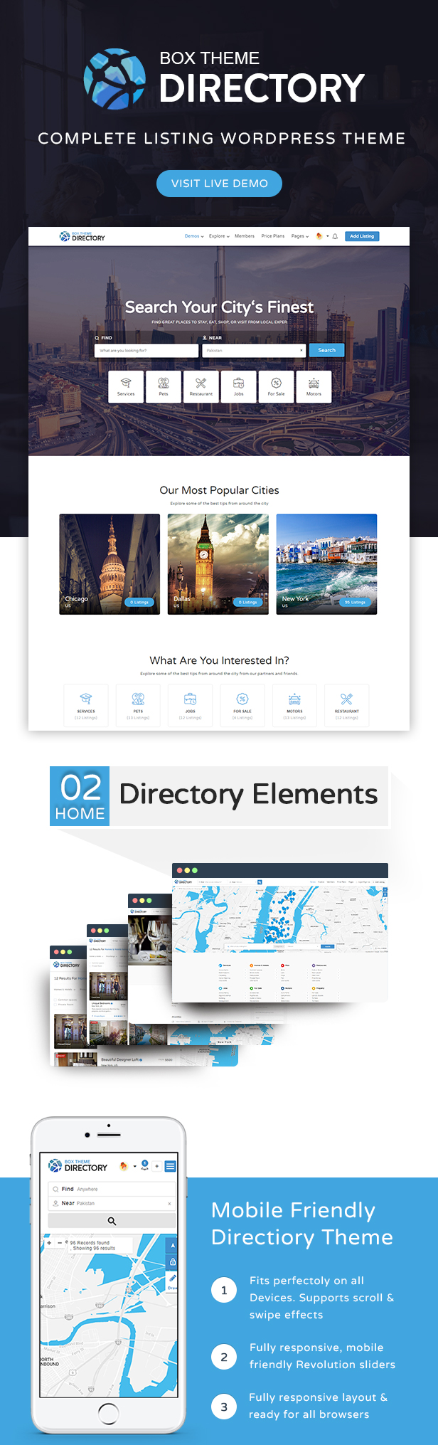 012 - Directory | Multi-purpose WordPress Theme