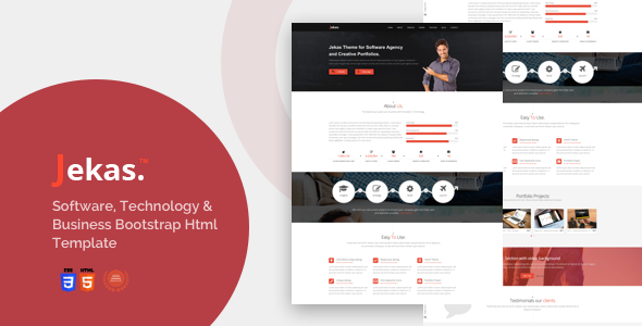 01 JEKAS.  large preview - Software, Technology & Business Bootstrap Html Template - Jekas