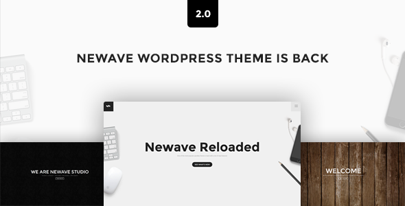 01 cover.  large preview - Newave - WordPress Responsive One Page Parallax