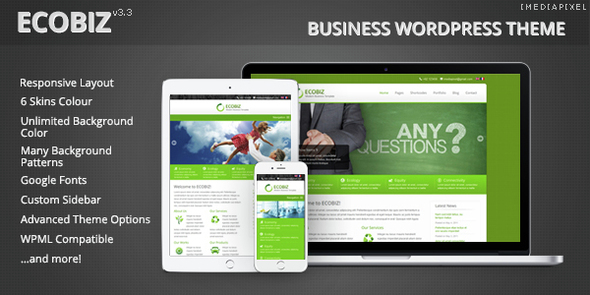 01 ecobiz.  large preview - ECOBIZ -  Business WordPress Theme