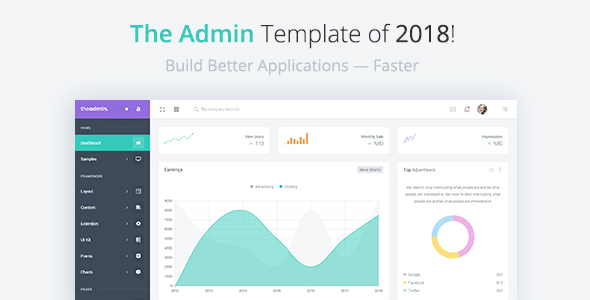 01 preview.  large preview - TheAdmin - Responsive Bootstrap 4 Admin, Dashboard & WebApp Template
