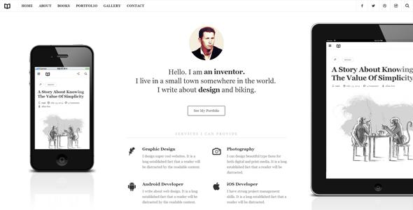 01 readme.  large preview - Readme - A Readable WordPress Theme