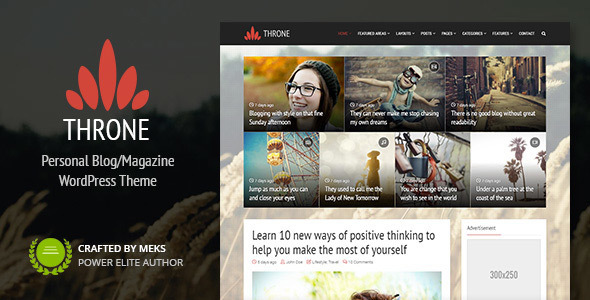 01 throne.  large preview - Throne - Personal Blog/Magazine WordPress Theme