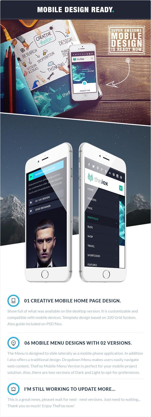06 thefox psd mobile design - TheFox | Multi-Purpose PSD Template