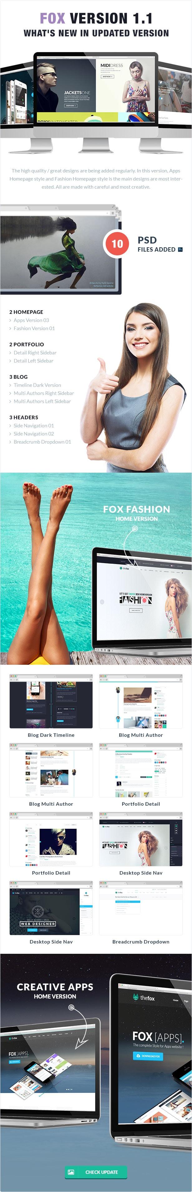 09 thefox psd ver 1 1 update version - TheFox | Multi-Purpose PSD Template