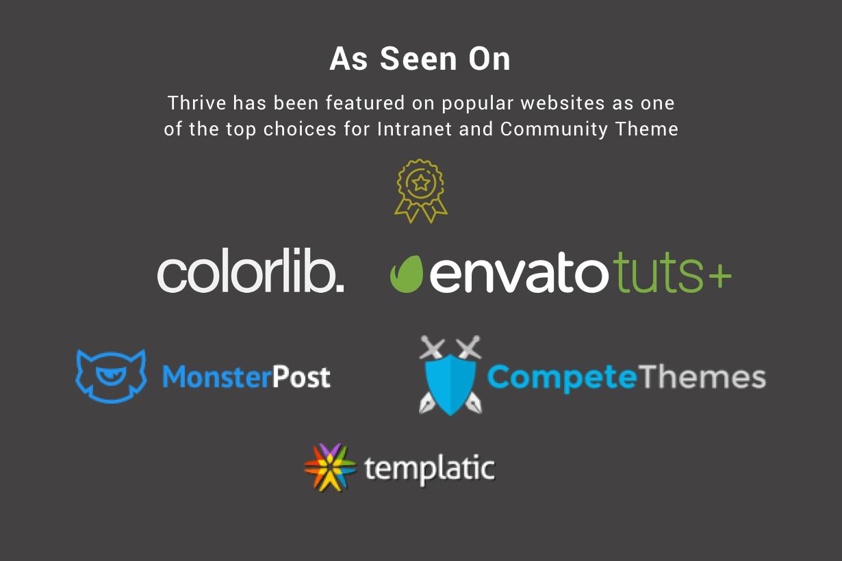10 seen+on - Thrive - Intranet & Community WordPress Theme