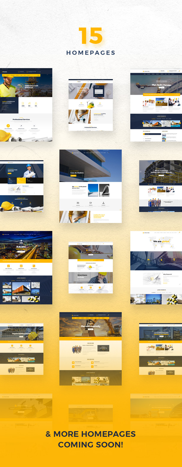 2 - Structure - Construction Industrial Factory WordPress Theme