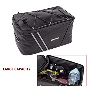 2aafc64e 6083 445c ab56 14de7ef485fe.  CR0,0,1500,1500 PT0 SX300 V1    - ERRLANER Bicycle Rack Rear Carrier Bag Insulated Trunk Cooler PU Leather Waterproof 11L/7L Large Capacity Storage Luggage Pouch Reflective MTB Bike Pannier Shoulder Bag with Rain Cover
