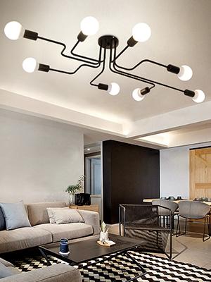 2f4b0f8a d659 4a8f 8574 0814830fcdeb.  CR0,0,300,400 PT0 SX300 V1    - Lingkai Industrial Ceiling Light Vintage Chandelier Metal Pendant Light Creative Retro 8-Light Chandelier Lighting Fixture