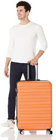 319m8B009AL. AC  - Amazon Basics Premium Hardside Spinner Suitcase Luggage with Wheels - 20-Inch, 28-Inch, Orange
