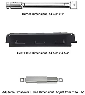 31bbcoJDA1L. AC  - Hisencn Grill Replacement Parts for Charbroil 6 Burner 463230515, 463230514, g431-0300-w2a, G433-0016-W1, Grill Burner, Heat Plate Tent Shield, Adjustable Crossover Tubes, Ignitor Repair kit