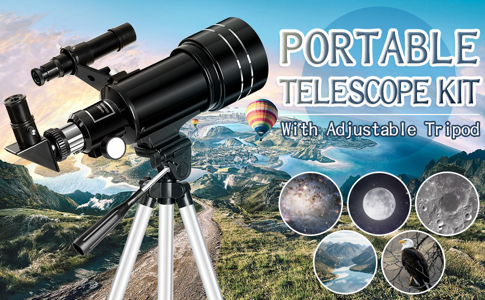 3b4958c5 8cf5 4f74 9672 219f30da553d.  CR0,0,970,600 PT0 SX970 V1    - Occer Telescopes for Adults Kids - Portable Telescope for Beginners for View Moon - 70mm Aperture 300mm Lightweight Refracting Telescopes with Adjustable Tripod Moon Filter Wireless Remote