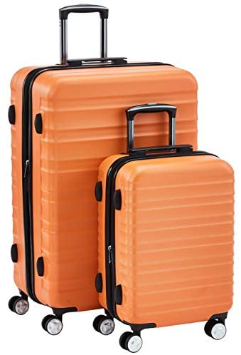418LEPONPGL. AC  - Amazon Basics Premium Hardside Spinner Suitcase Luggage with Wheels - 20-Inch, 28-Inch, Orange