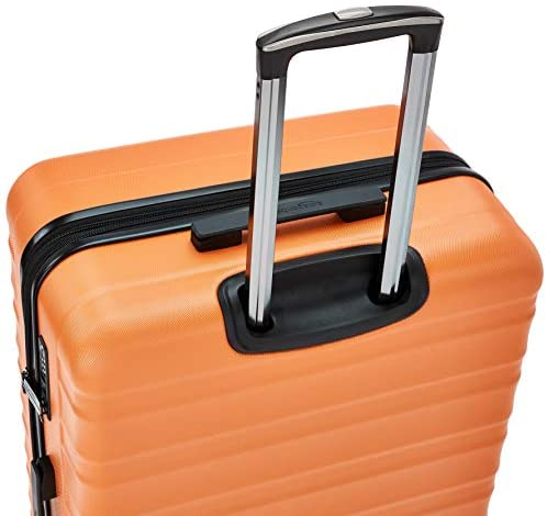 41DxzIKQLGL. AC  - Amazon Basics Premium Hardside Spinner Suitcase Luggage with Wheels - 20-Inch, 28-Inch, Orange